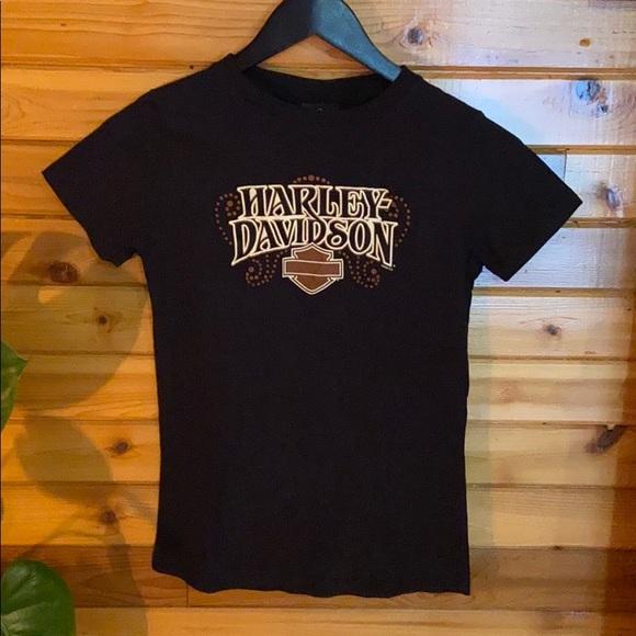 2008 Harley Davidson baby doll t-shirt